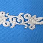 1/30 新商品 刺繍モチーフ 35mm×3.7m シルバー(銀)
